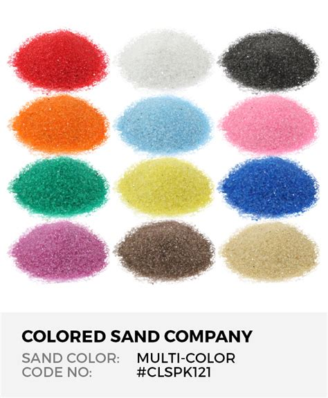 Farbe Mit Sand by 12pc Multi Color Sand Assortment Class Pack I The