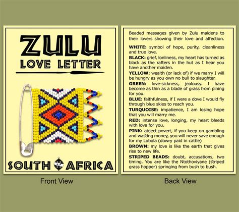 zulu love letter wholesale suppliers earth africa
