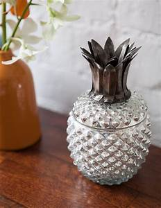 We love this kitsch silvered glass trinket box in the