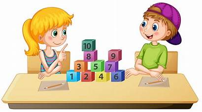 Math Learning Children Vector Number Numbers Background