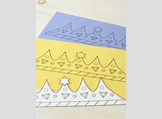 Printable Purim Crown Coloring & Crafts Jewish Kids