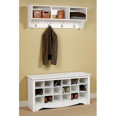 Entryway Bench With Shoe Storage And Coat Rack by Entryway Wall Mount Coat Rack W Shoe Storage Bench In
