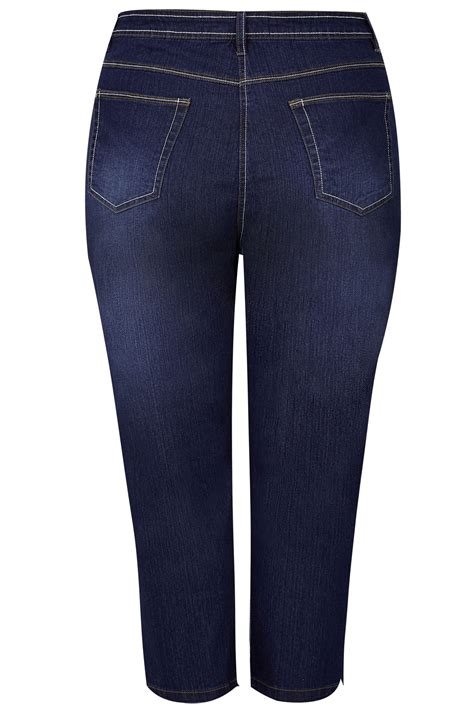 Date Post Jenny Template Responsive by Indigo Blue Cropped Denim Jeans Plus Size 16 To 36