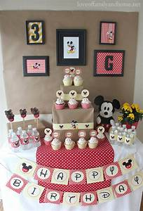 Mickey Mouse Birthday Party Ideas {Griffin Turns THREE ...