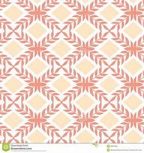 Peach Orange Argyle Retro Seamless Pattern Royalty Free ...