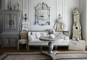 Wandgestaltung Vintage Look : shabby chic wohnzimmer 66 romantische einrichtungen ~ Lizthompson.info Haus und Dekorationen