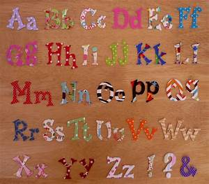 fun iron on fabric letters 22cm 44cm upper and With iron on fabric letters