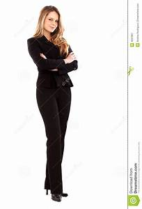 Confident Business Woman Standing Stock Image - Image: 4037801