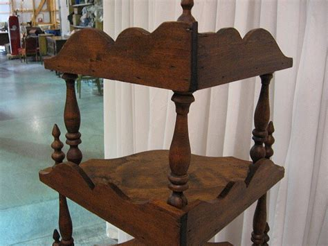 Etageres For Sale by Mahogany Antique 6 Shelf Corner Etagere For Sale