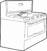 Stove Pot Outline Sketch Induction Single Cooking Generic Illustration Oven Vector Depositphotos sketch template