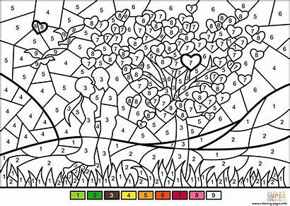 Coloring Number Printable Pages Couple Worksheets Numbers