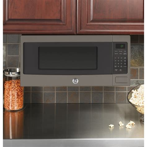 ge countertop microwave pem31efes ge profile 1 1 cu ft countertop or built in