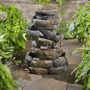 Garden Oasis 360 Degree Rock Fountain With 4 Led Lights ...