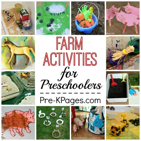 farm activities for preschoolers pre k pages 317 | Farm Collage Square v2