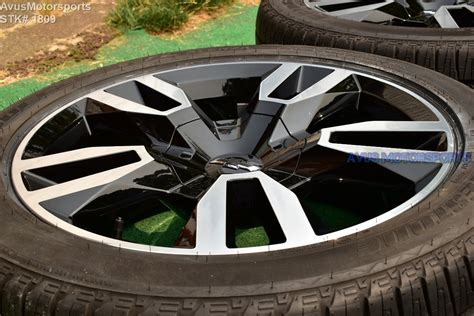 chevrolet tahoe rst oem factory wheels tires sierra