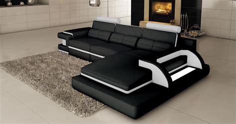 canape angle noir ordinary canape d angle cuir noir et blanc 5 existe