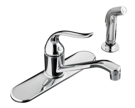 kitchen sink and faucet kohler coralais single kitchen sink faucet in