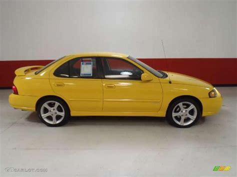 nissan yellow sunburst yellow 2003 nissan sentra se r spec v exterior