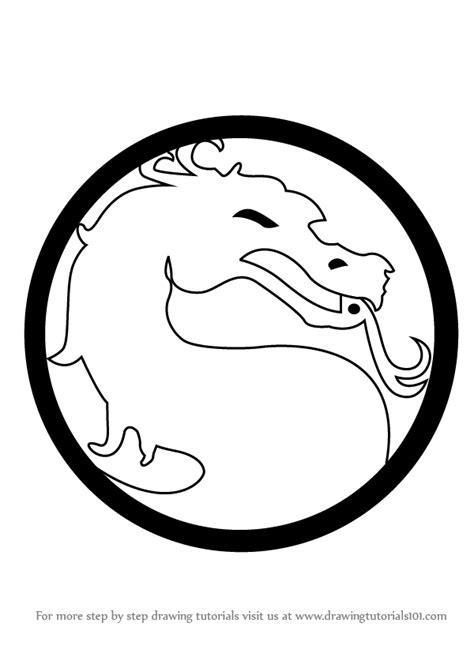 learn   draw mortal kombat logo mortal kombat step