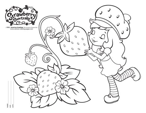 Strawberry Shortcake Coloring Sheets