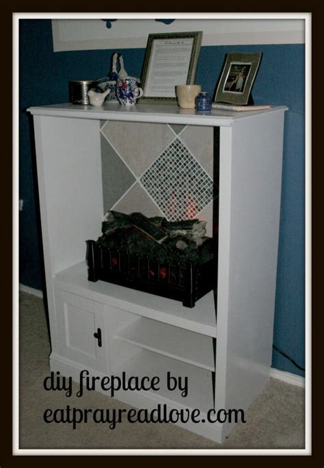 turn tv into fireplace how to turn an entertainment center into a fireplace diy