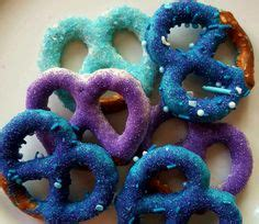 Gourmet White Chocolate Covered Pretzels Pink Teal Purple ...