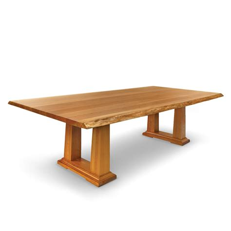 Acropolis Live Edge   Solid Wood Table   Woodcraft