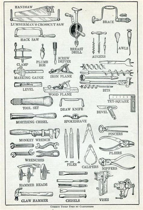 carpintero herramientas diccionario vintage por