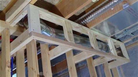 How To Build A Soffit Around Ductwork Youtube