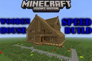 Awesome Minecraft PE Small Wooden House - Speed Build ...
