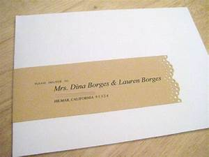 to add my personal touch i focused on the address labels With invitation name stickers