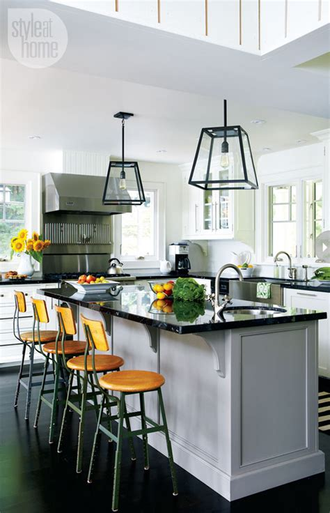 cottage kitchen lighting mix and chic home tour a bright and charming muskoka 2656