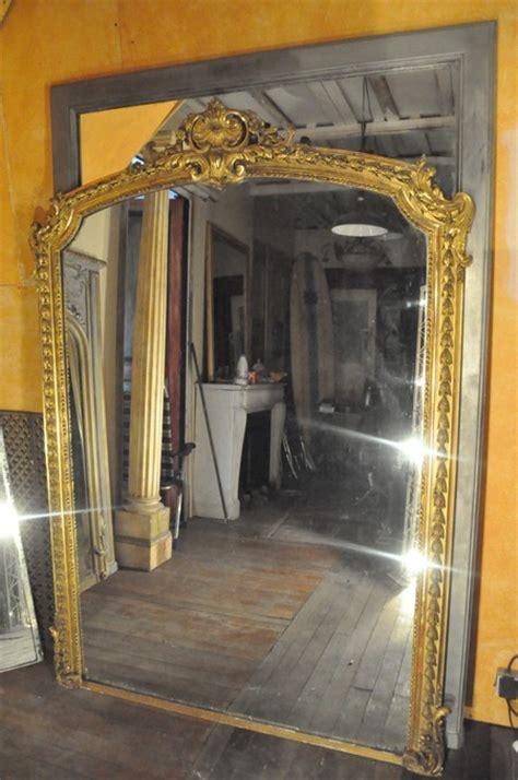miroir doré ancien miroir ancien cadre louis xv glace au mercure daniel morel