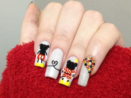 minnie  mickey mouse inspired nail art lovetoknow