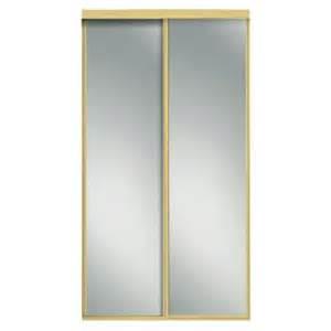 interior sliding doors home depot contractors wardrobe 96 in x 81 in concord mirrored bright gold aluminum interior sliding door