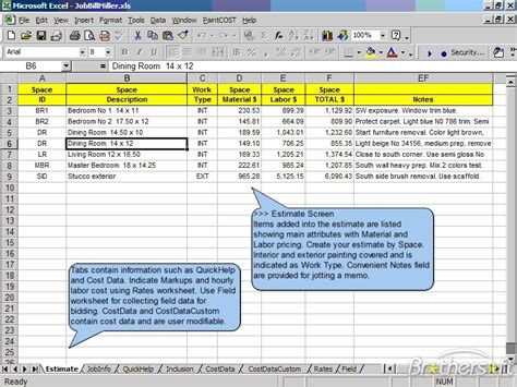 cost estimate free paintcost estimator for excel paintcost