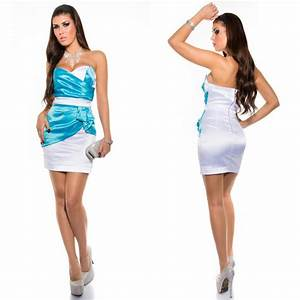 robe bustier blanc et turquoise all pictures top With robe de soirée bleu turquoise
