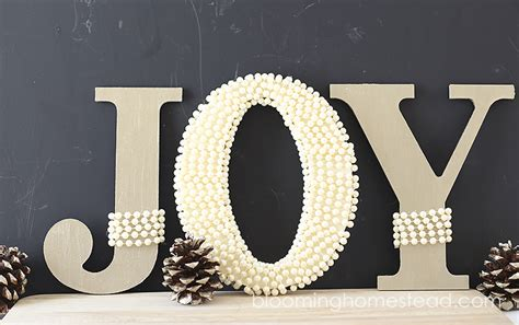 joy letters blooming homestead
