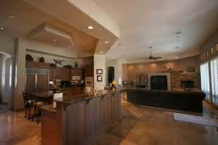 open floor plan kitchen and living room knipp luxury ultimate custom homes