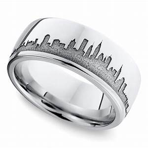 New unique men39s wedding rings for New york wedding ring