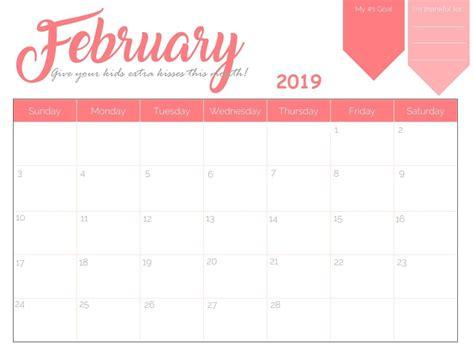 Blank Calendar 2019 Cute