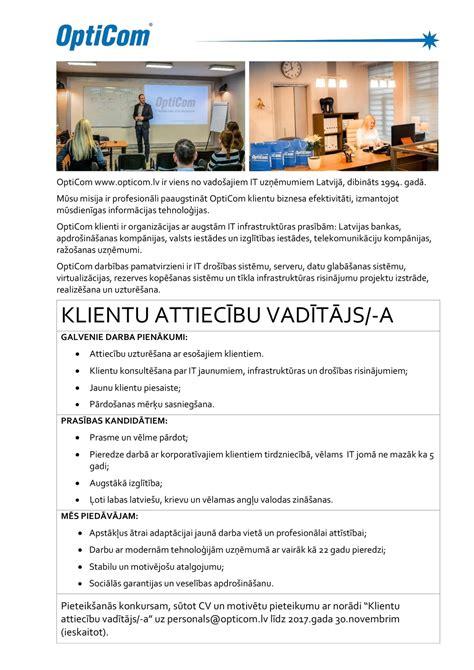 Klientu attiecību vadītājs/-a, Rīga