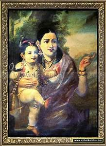 Raja Ravi Varma Oil Painting 8 - Yesoda With Krishna