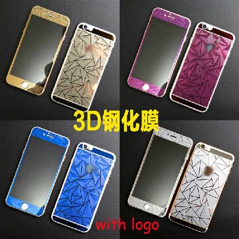 750x1334 3d color glass iphone new brand luxury front back 3d mirror tempered
