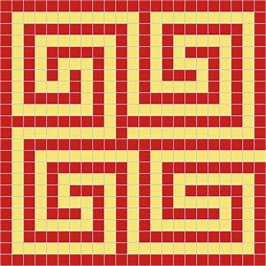 examples of roman maze mosaics With roman mosaic templates for kids
