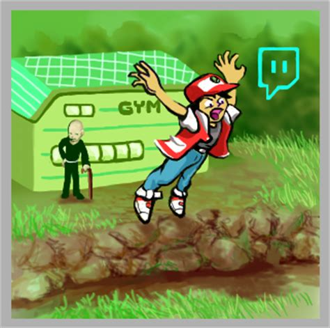 Pokemon Trainer Red Meme - trainer red falling twitch plays pokemon know your meme