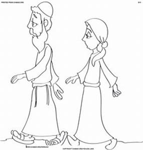 Abraham New Land Colouring Pages