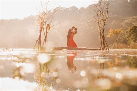 bali pre wedding photoshoot  tamblingan lake  forest