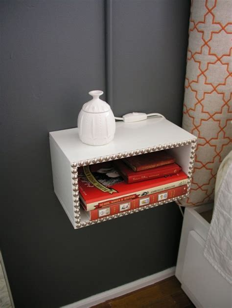 diy floating night stands  small bedrooms shelterness