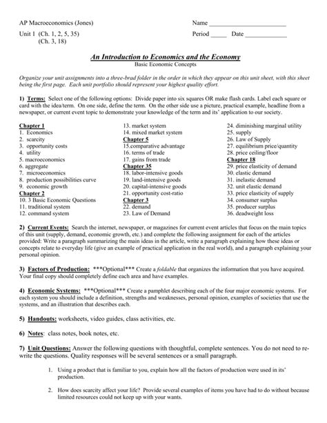 worksheet scarcity and the factors of production
